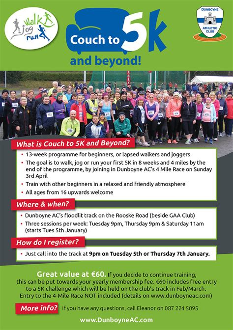 starting couch to 5k couch to 5k beyond starting january 2016 dunboyne ac