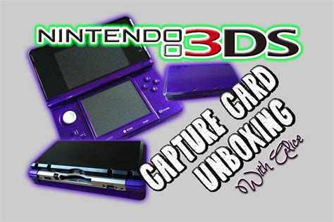 how to make a capture card nintendo 3ds with capture card device midnight purple
