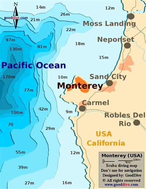 california map monterey map of monterey