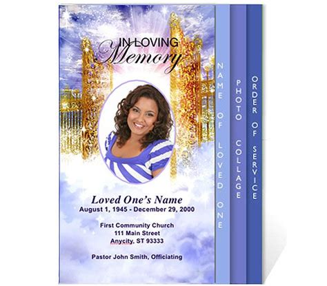 free funeral program templates funeral program