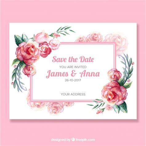 la rosa realty cards templates convite bonito do casamento rosas da aguarela baixar