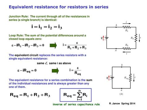 resistors in series calculate ppt kirchhoff s multi loop circuit exles rc circuits charging a capacitor powerpoint