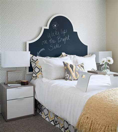 chalkboard paint ideas bedroom transitional bedroom with a chalkboard paint headboard