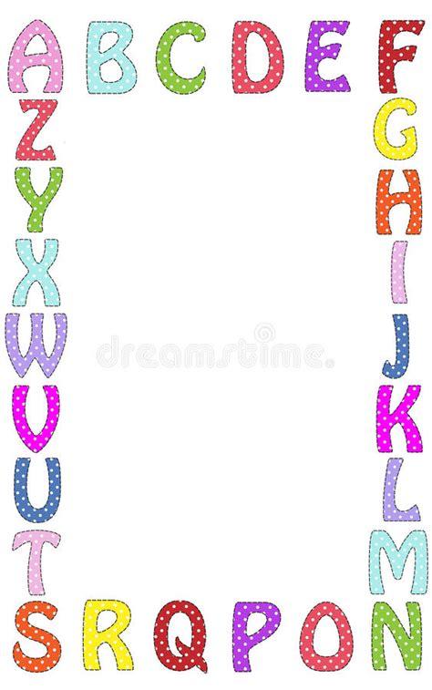 printable alphabet letters to frame alphabet letter frame border illustration stock