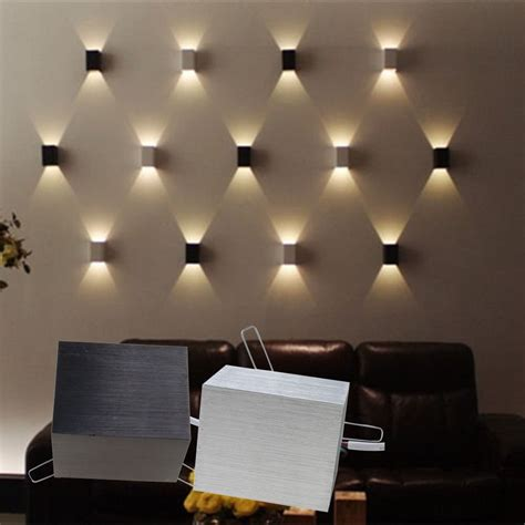 bedroom wall light fixtures 3w led square wall l hall porch walkway bedroom
