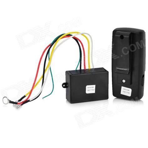 electric winch wireless remote system black
