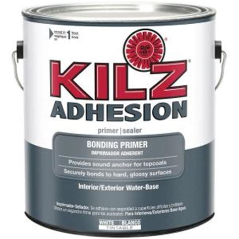 kilz 1 gal adhesion bonding primer l211101 the home depot