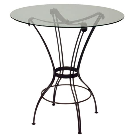 Bar Height Glass Top Table by Table Tops And Bases Transit Counter Height Glass Table