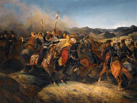 russian don cossacks charging against ottoman mamelukes