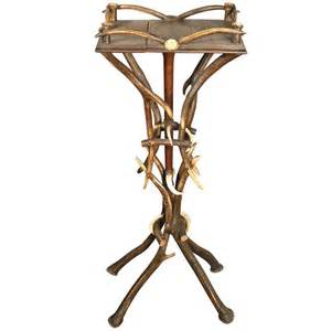 Antler Table L Rustic Antler Flower Stand For Sale At 1stdibs