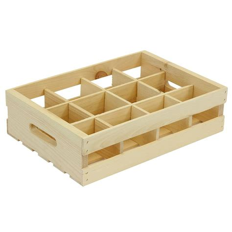crates  pallet  grid wood crate divided insert