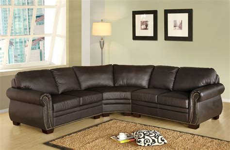 Leather Sectional Sofa Distressed Leather Sectional Homesfeed