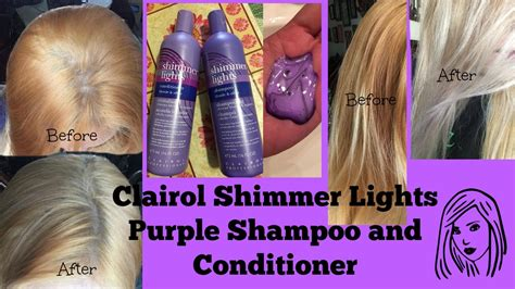 shimmer lights before and after clairol shimmer lights purple shoo and conditioner