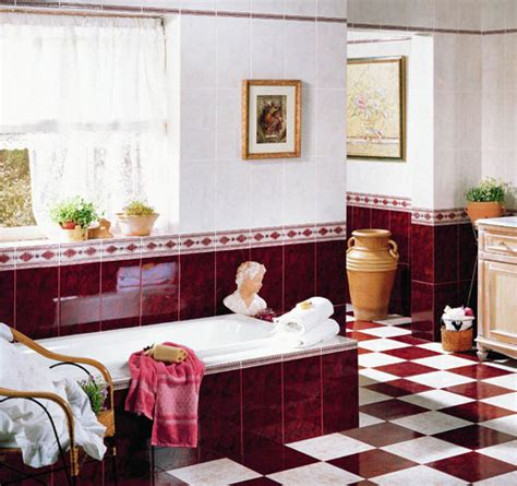 red and white tiles for bathroom hot red bathroom