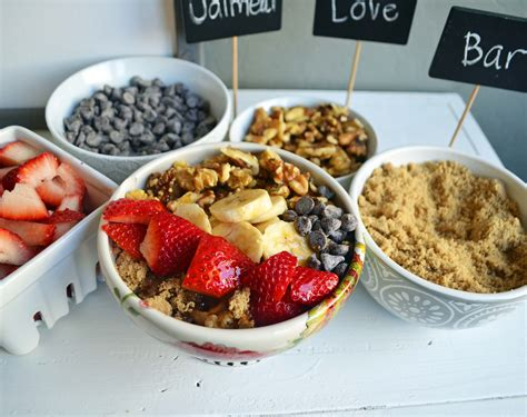 oatmeal toppings bar the oatmeal love toppings bar modern honey