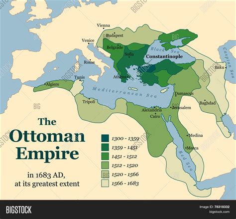 ottoman empire at its largest ottoman empire acquisitions stock vector stock photos