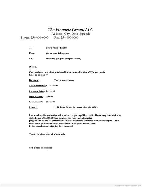 Mortgage Broker Letter Templates Free Printable Mortgage Broker Shortsale