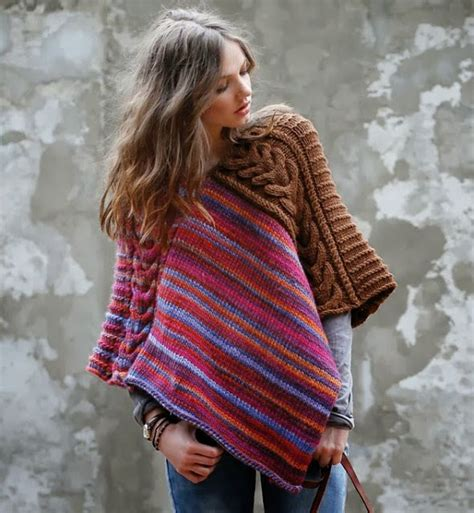 sewing a knitted sweater together poncho easy 2 rectangles sewn together the