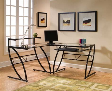 Glass Table L Shades Contemporary L Shaped Glass Desk Design Ceg Portland L Shaped Glass Desk Ideas