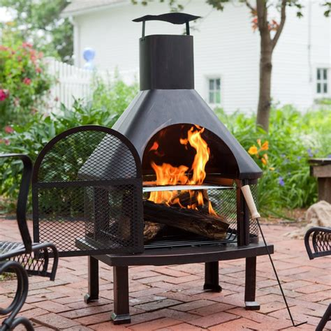 outdoor pit chimney fireplace design ideas