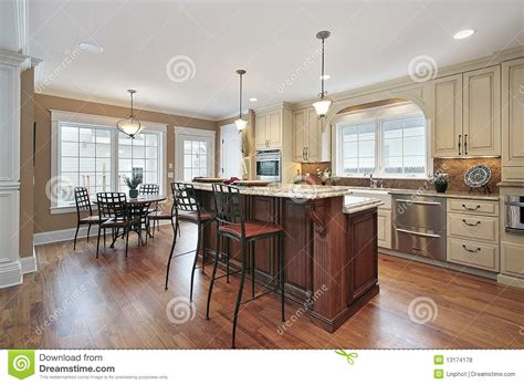 Island Kitchen Counter kitchen with two tiered island stock photo image of