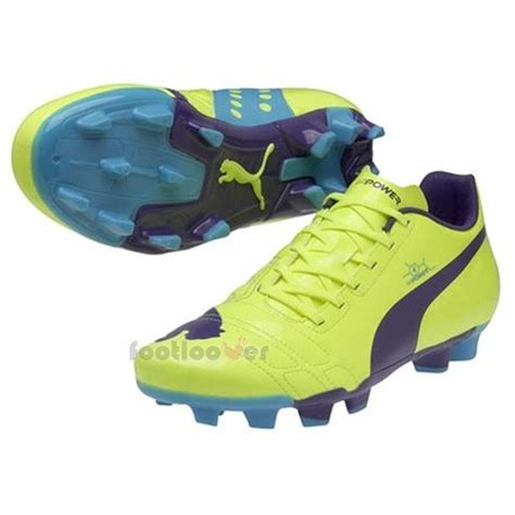 power football shoes mens evopower 4 fg 102953 05 evo power yellow fluo