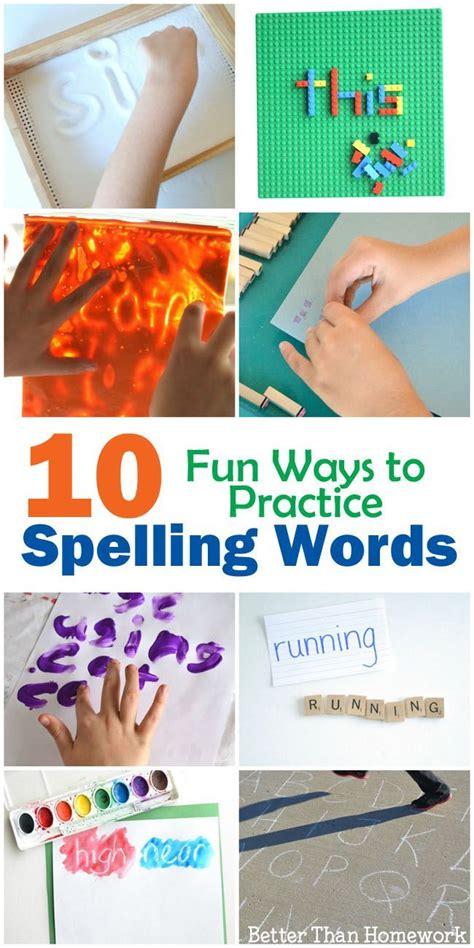 spelling practice ideas  pinterest spelling spelling homework  spelling centers