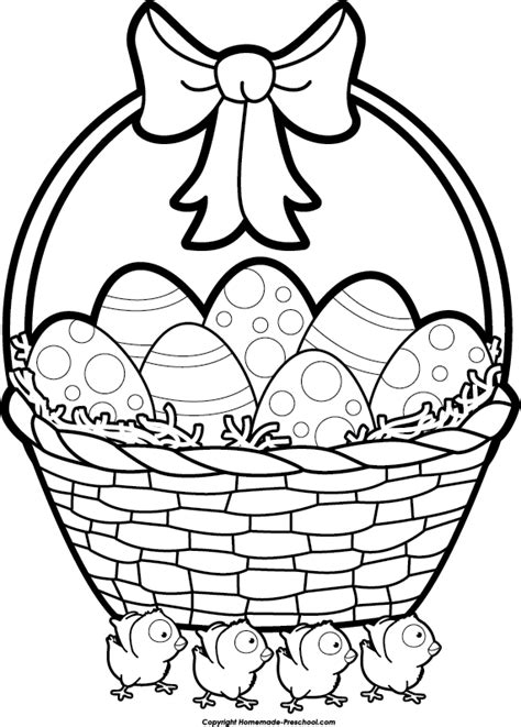 Easter clipart black and white many interesting cliparts