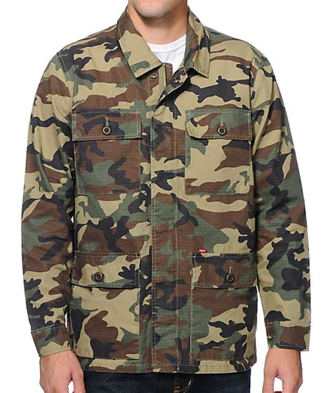 Obey Camo obey dissent camo jacket at zumiez pdp