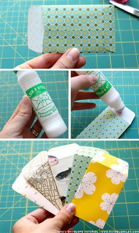 How To Make A Handmade Envelope - poppytalk diy paper envelopes crafts