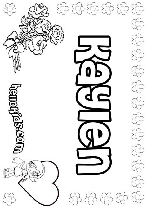 coloring pages of the name kayla kayla name drawings