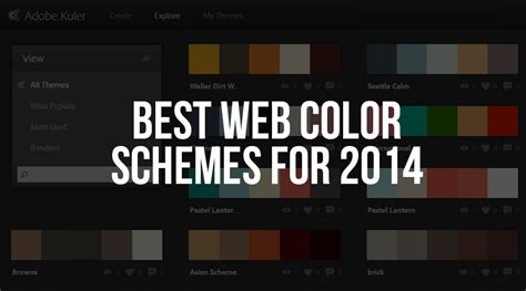 best logo color combinations web design best web color schemes for 2014 the dill design