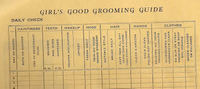 1950s grooming guide for women retro ways girls good grooming guide