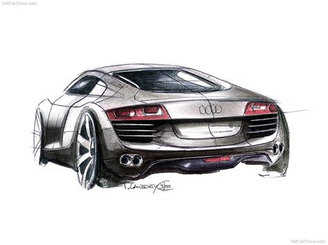 Audi R8 picture # 93 of 96, Design Sketches, MY 2007, 800x600