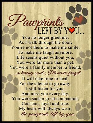 Pawprints Left By You Poem