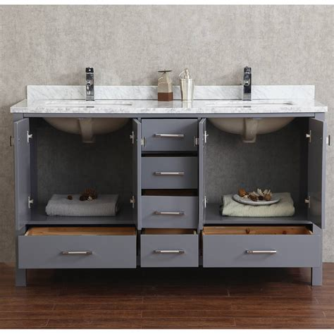 Interior 60 Inch Double Sink Bathroom Vanity Modern 2 Sink Bathroom Vanity