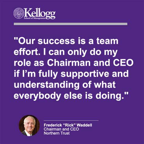 Kellogg Mba Visit Days by Kellogg School Of Management Frederick Rick Waddell