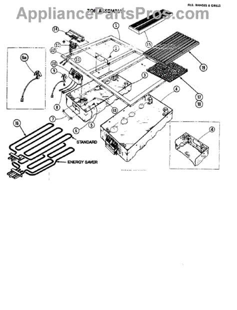 jenn air oven parts diagram parts for jenn air 4875 top assembly parts