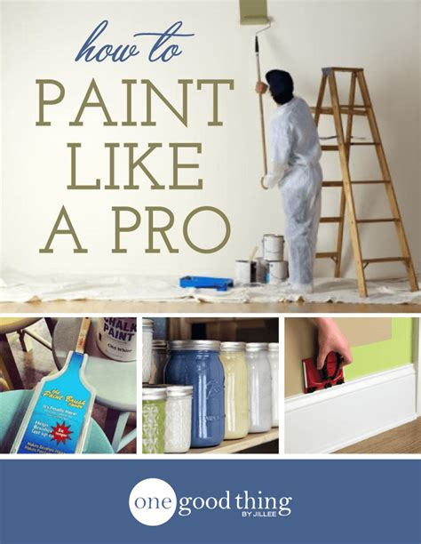 how to paint a room professionally how to paint like a pro one thing by jillee