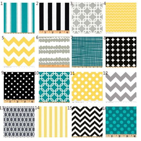Black And Yellow Crib Bedding by Custom Crib Bedding Yellow Black Turquoise And Grey
