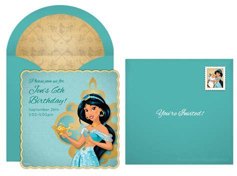 printable jasmine birthday invitations plan a dazzling princess jasmine party