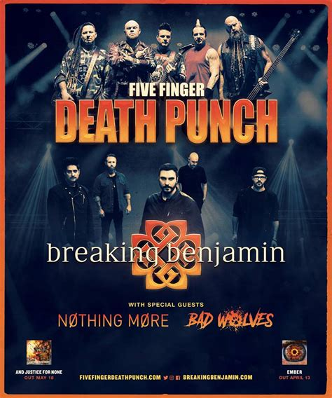 five finger death punch and breaking benjamin five finger death punch to release new album in may
