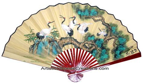 Chinese Wall Fans Chinese Wall Decor Chinese Paper Fans