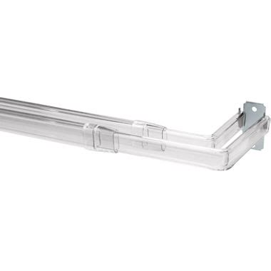 clear plastic curtain rods bali double clear curtain rod