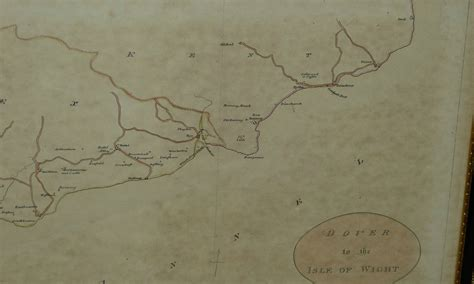 printable road map of isle of wight a 19th century map dover to the isle of wight in
