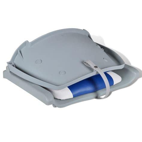 boat backrest boat seat foldable backrest with blue white pillow 16 1
