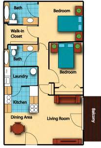 Charming 1 Bedroom Garage Apartment Floor Plans #2: 2-bedroom ...