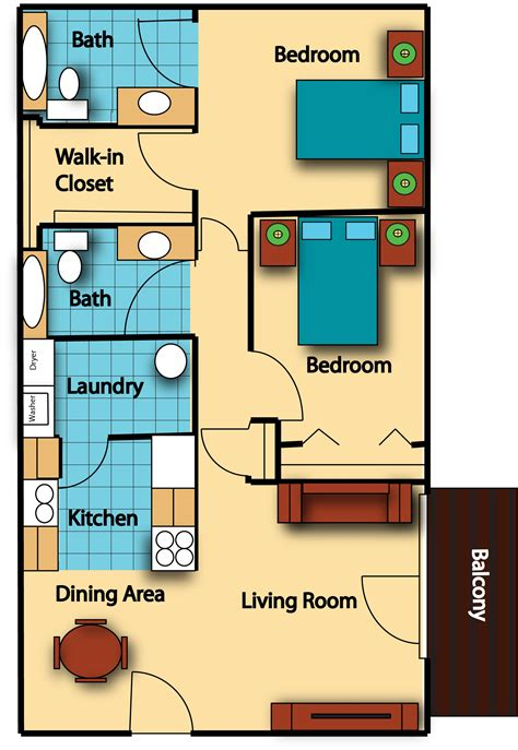 average square footage of a 1 bedroom apartment average square footage of a 3 bedroom 1 bath house