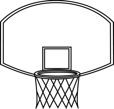 basketball backboard coloring page black and white basketball backboard clip art black and