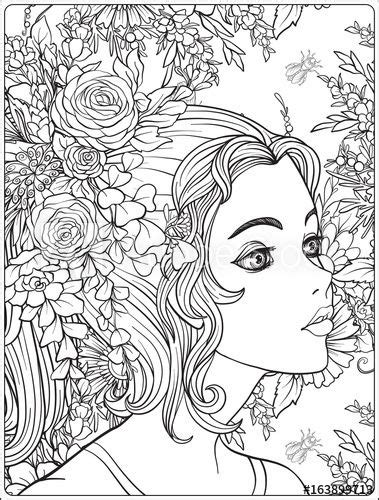 young beautiful girl   wreath  flowers